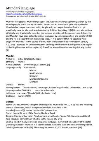 Mundari language