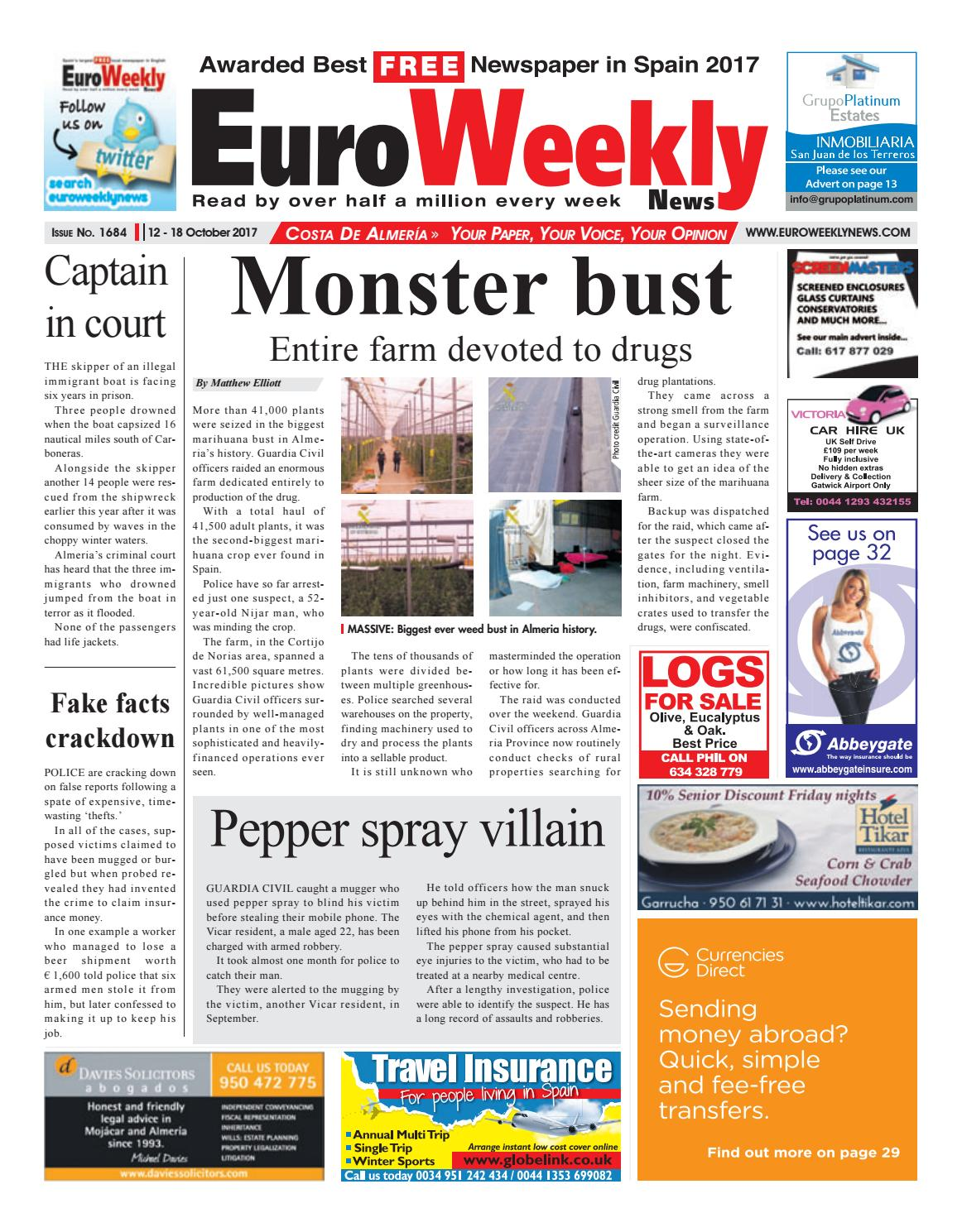 Euro Weekly News - Costa de Almeria 12 – 18 October 2017