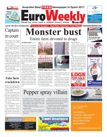 c30ef1525a Euro Weekly News - Costa de Almeria 12 – 18 October 2017 Issue 1684 ...