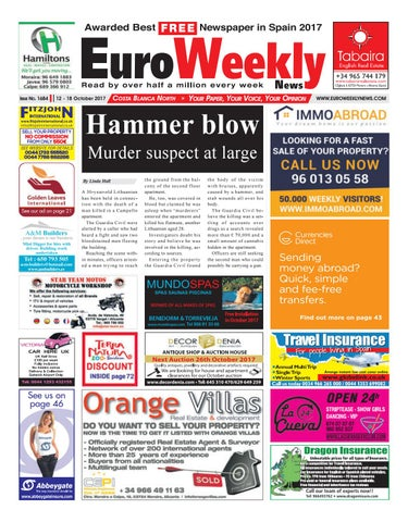 41904bba17 Euro Weekly News - Costa Blanca North 12 – 18 October 2017 Issue 1684