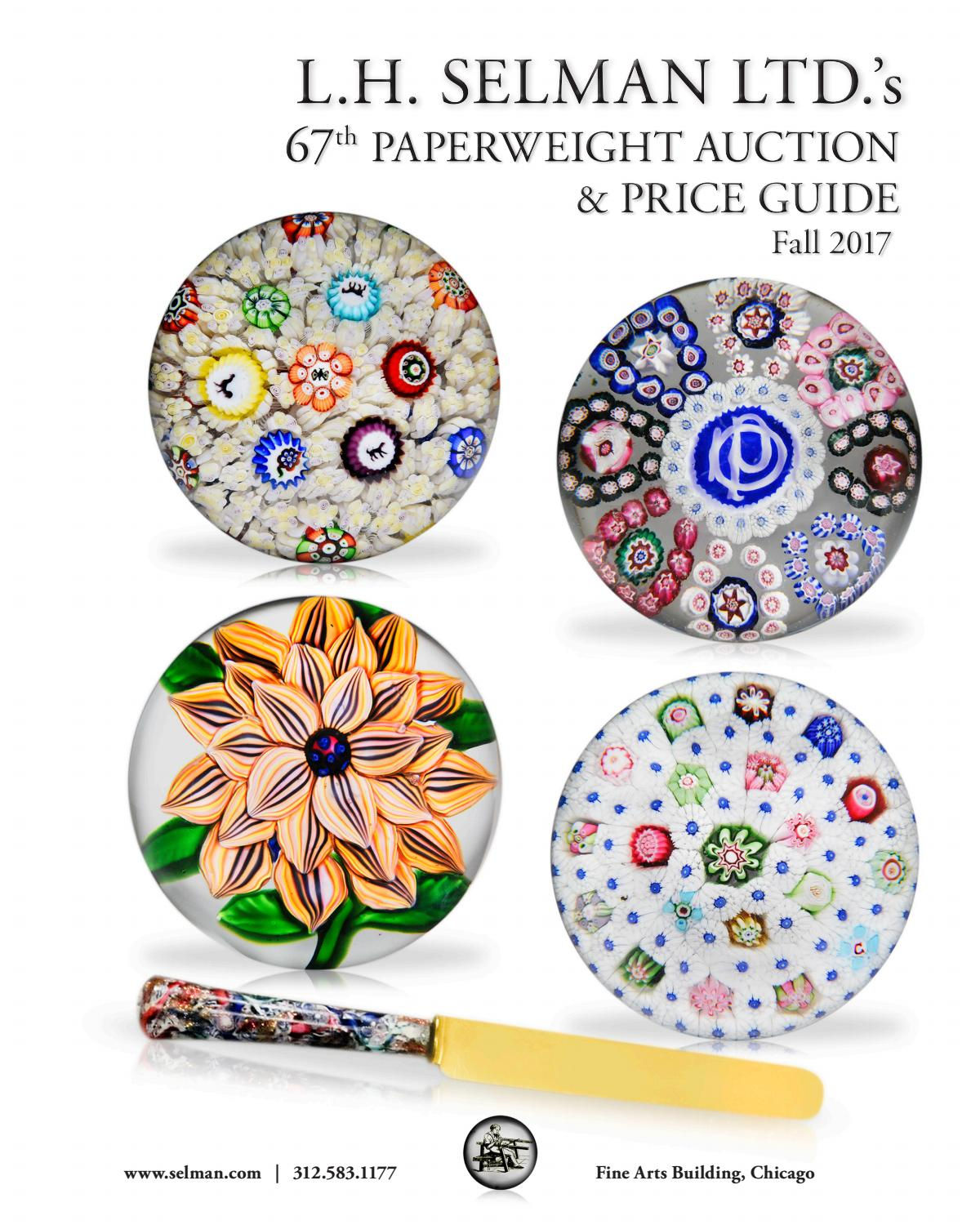 Lh Selman Ltds 67th Paperweight Auction Price Guide Fall 2017