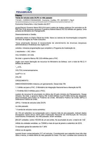 Clipping Fenabrave 06.10.2017 by MCE Comunicação - issuu 36e4fe474e0c7