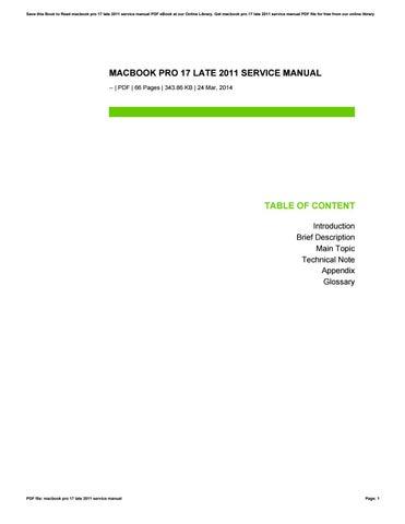 macbook pro 17 late 2011 service manual by widya68yudanta issuu rh issuu com 15 Inch MacBook Pro Diagram macbook pro 17 early 2011 service manual