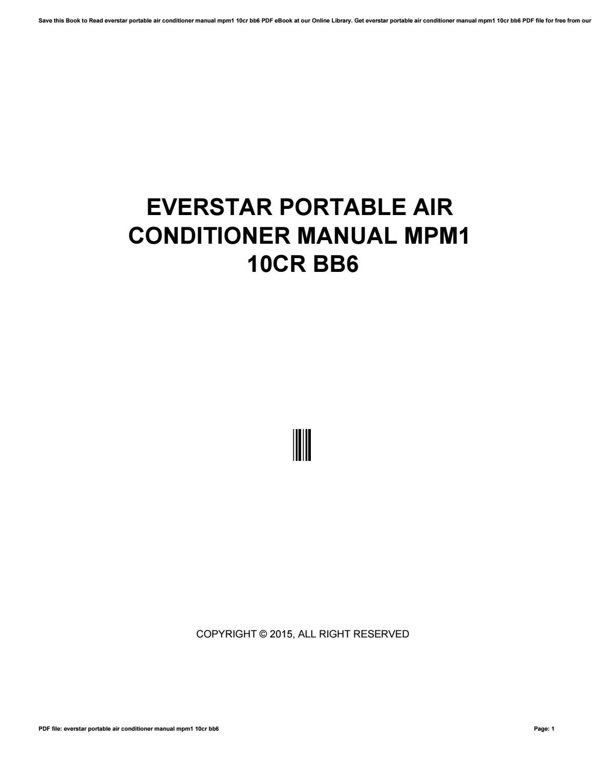 Everstar portable air conditioner manual mpm1 10cr bb6 by anaya65nolama -  issuu
