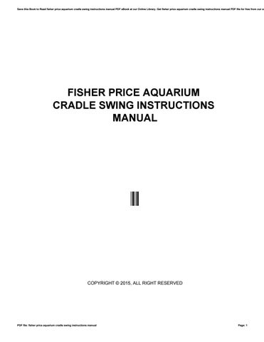 Fisher Price Aquarium Cradle Swing Instructions Manual By
