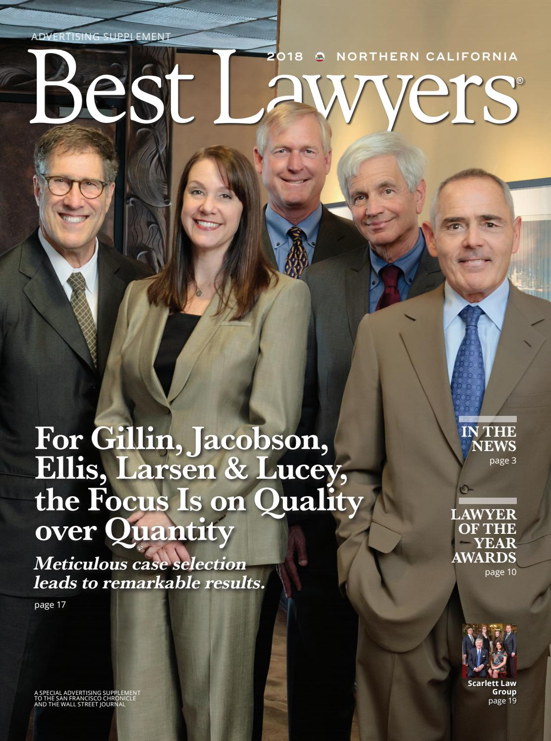 Best Lawyers In Northern California 2018 By Best Lawyers