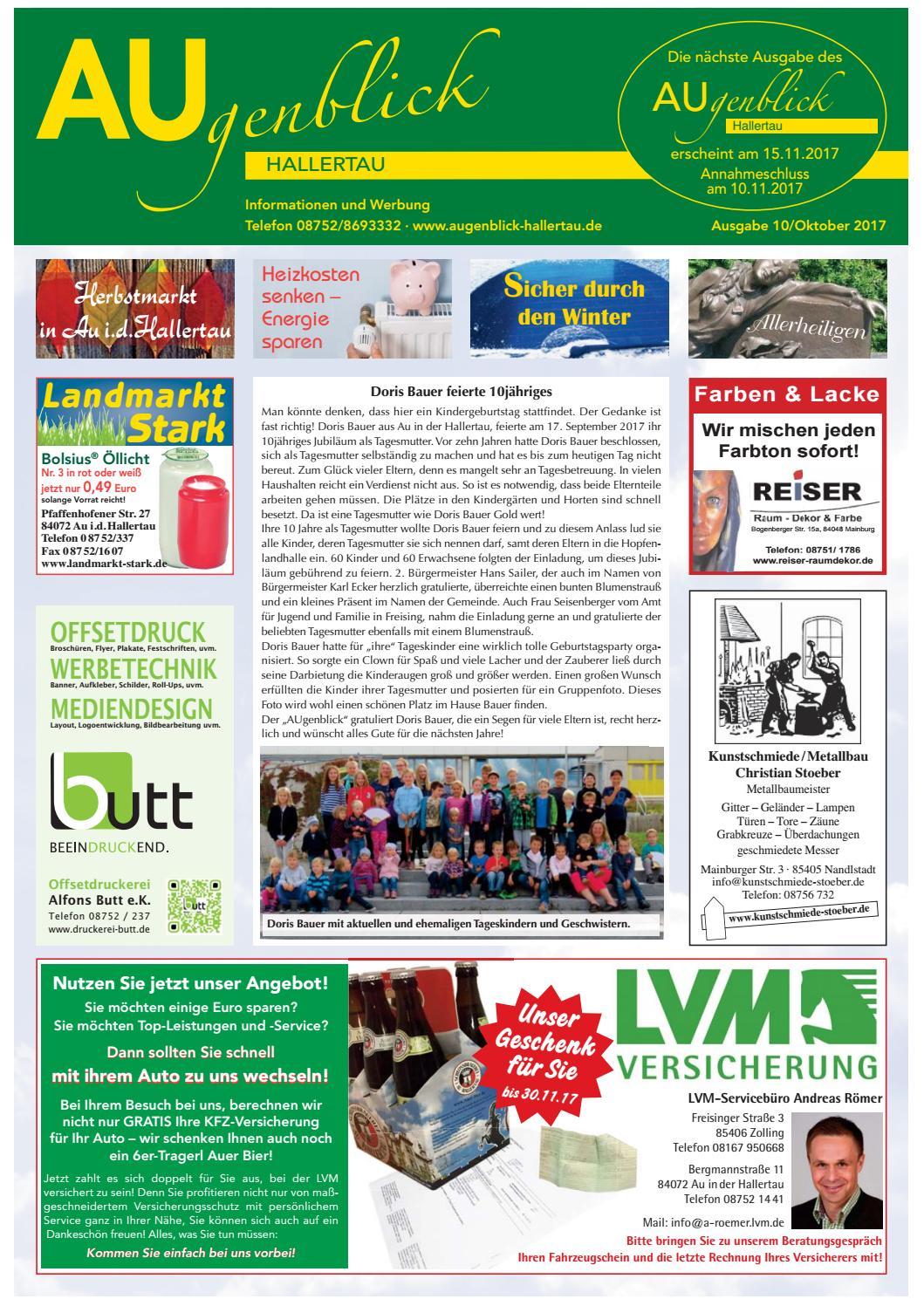 Augenblick Hallertau Ausgabe Oktober 2017 By Augenblick