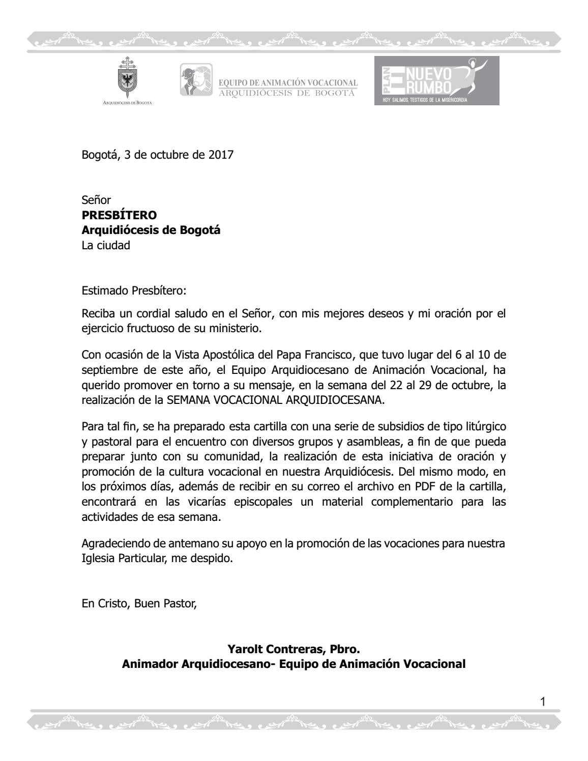 Cartilla aprobado 2017 by Oficina Arquidiocesana de Comunicaciones ...