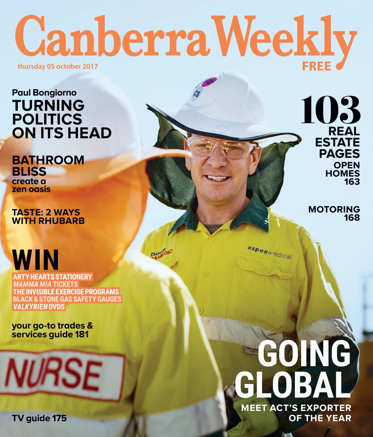 925d177712e 05 October 2017 by Canberra Weekly Magazine - issuu