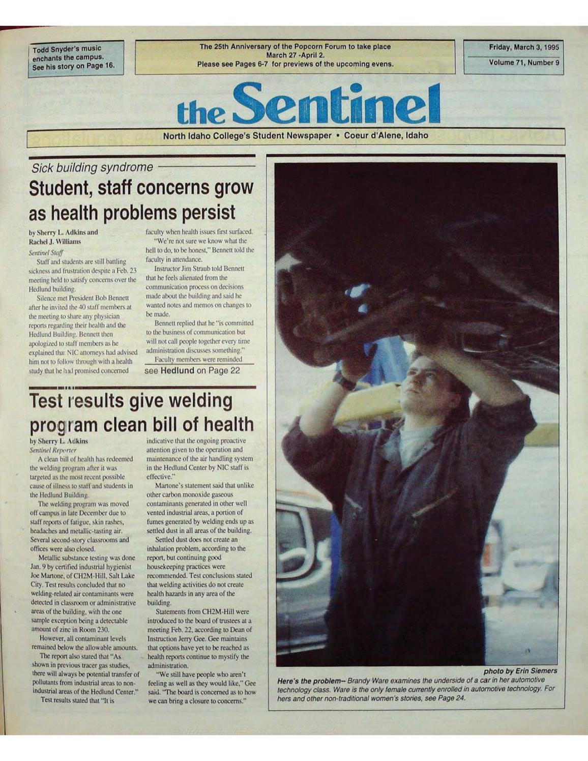 f3d510fa93435b The North Idaho College Sentinel Vol 71 No 9, Mar 3, 1995 by ...