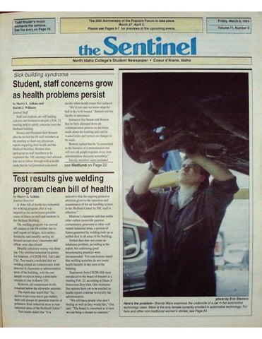 The North Idaho College Sentinel Vol 71 No 9, Mar 3, 1995 by