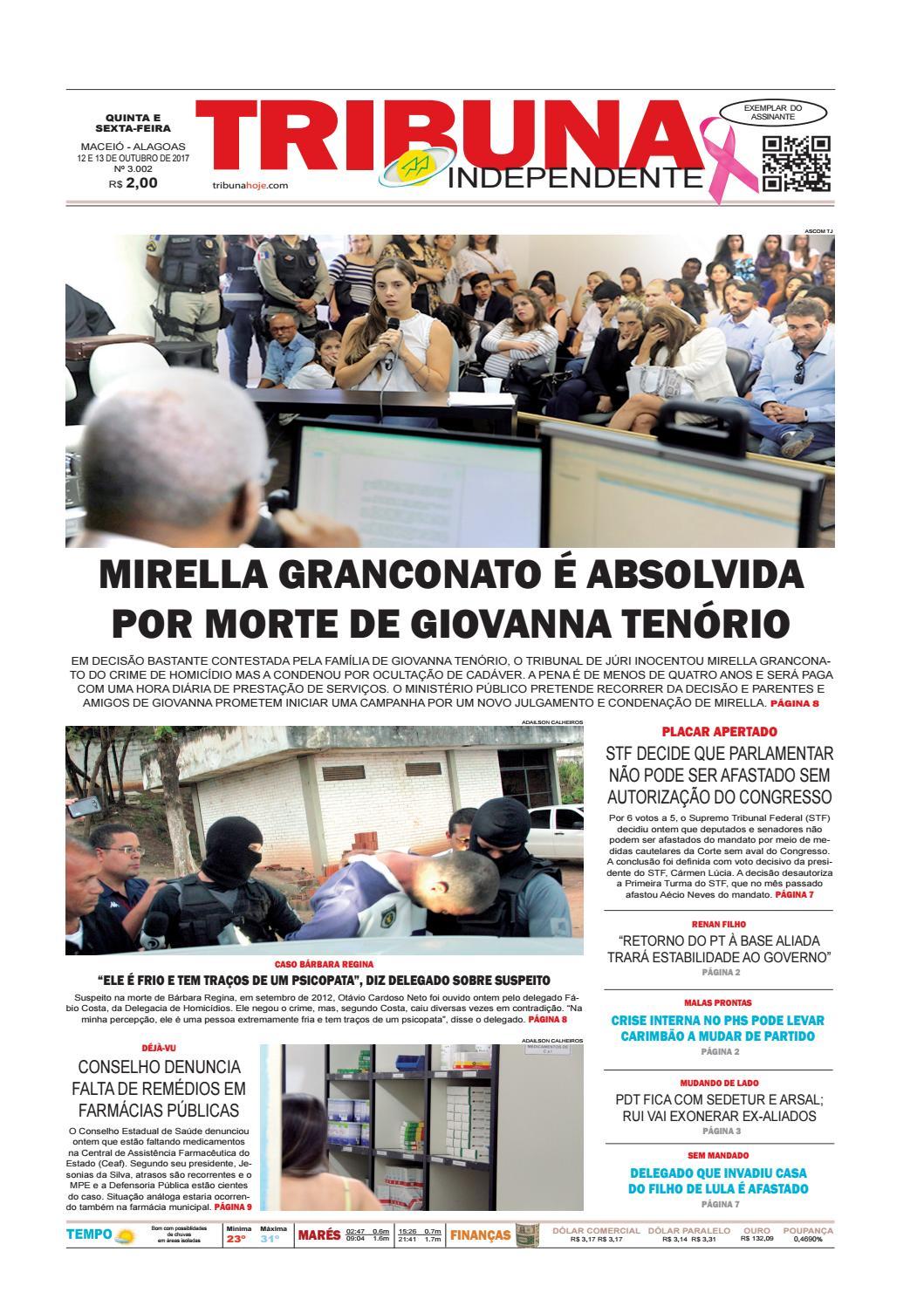 cca2d9325 Edição 3002 - 12 e 13 de outubro de 2017 by Tribuna Hoje - issuu