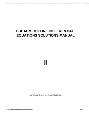 Pdf of algebra edition schaums linear outline 3rd
