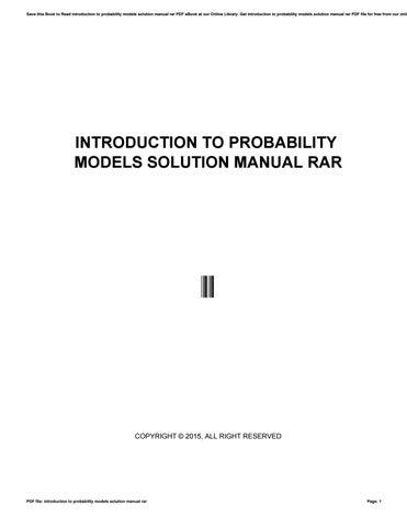 introduction to probability models solution manual rar by rh issuu com solution manual marine hydrodynamics solution manual relay protection