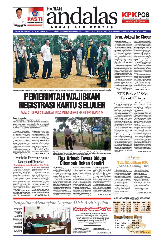 Epaper Andalas Edisi Kamis 12 Oktober 2017 By Media Issuu Fcenter Meja Belajar Sd Hk 9004 Sh Jawa Tengah