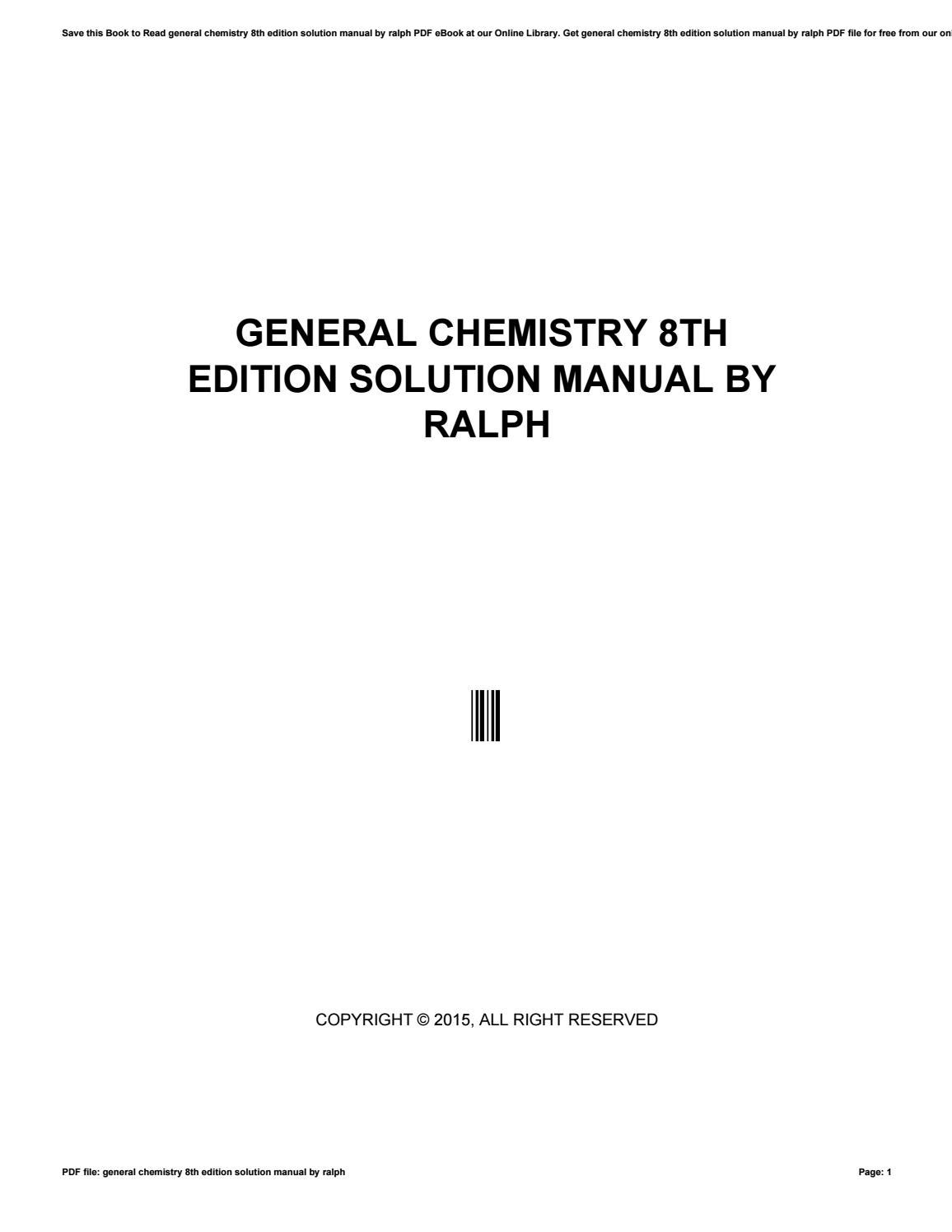 General chemistry solution manual pdf ebook array general chemistry 8th edition solution manual by ralph by rh issuu com fandeluxe Image collections