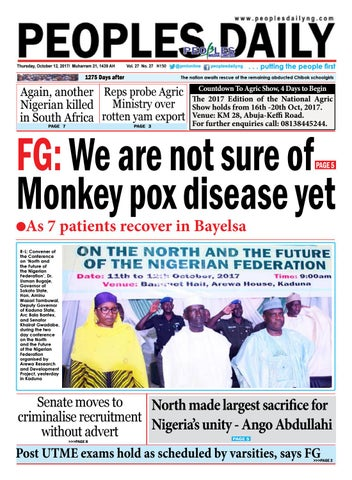 Thursday, October 12, 2017 Edition by Peoples Media Limited