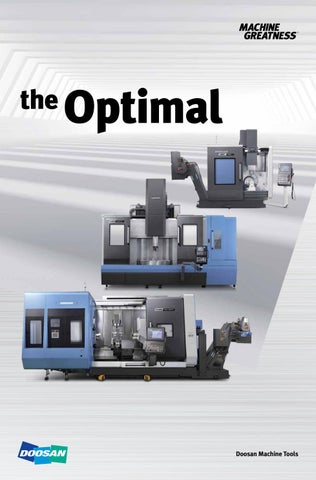Doosan Machine Tools - the Optimal by BTS Company - issuu