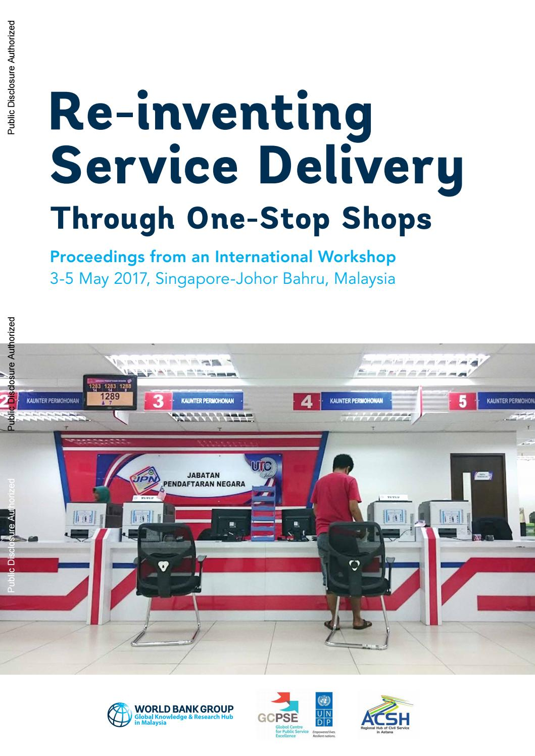 Re-inventing Service Delivery Through One-Stop Shops by UNDP