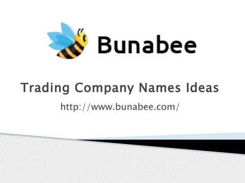 Trading company names ideas by bunabee - issuu