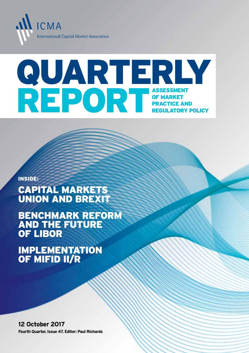ICMA Quarterly Report Fourth Quarter 2017