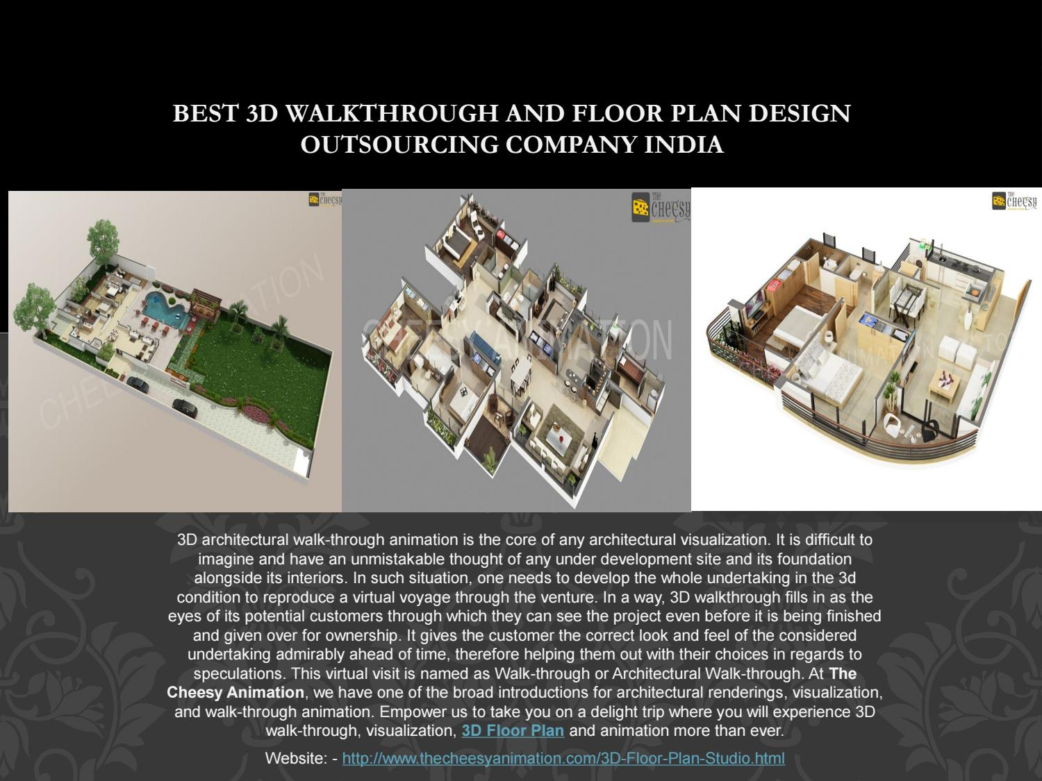 Best 3d Walkthrough And Floor Plan Design Outsourcing By The Cheesy Animation Issuu