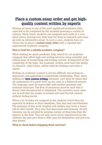 custom essay order