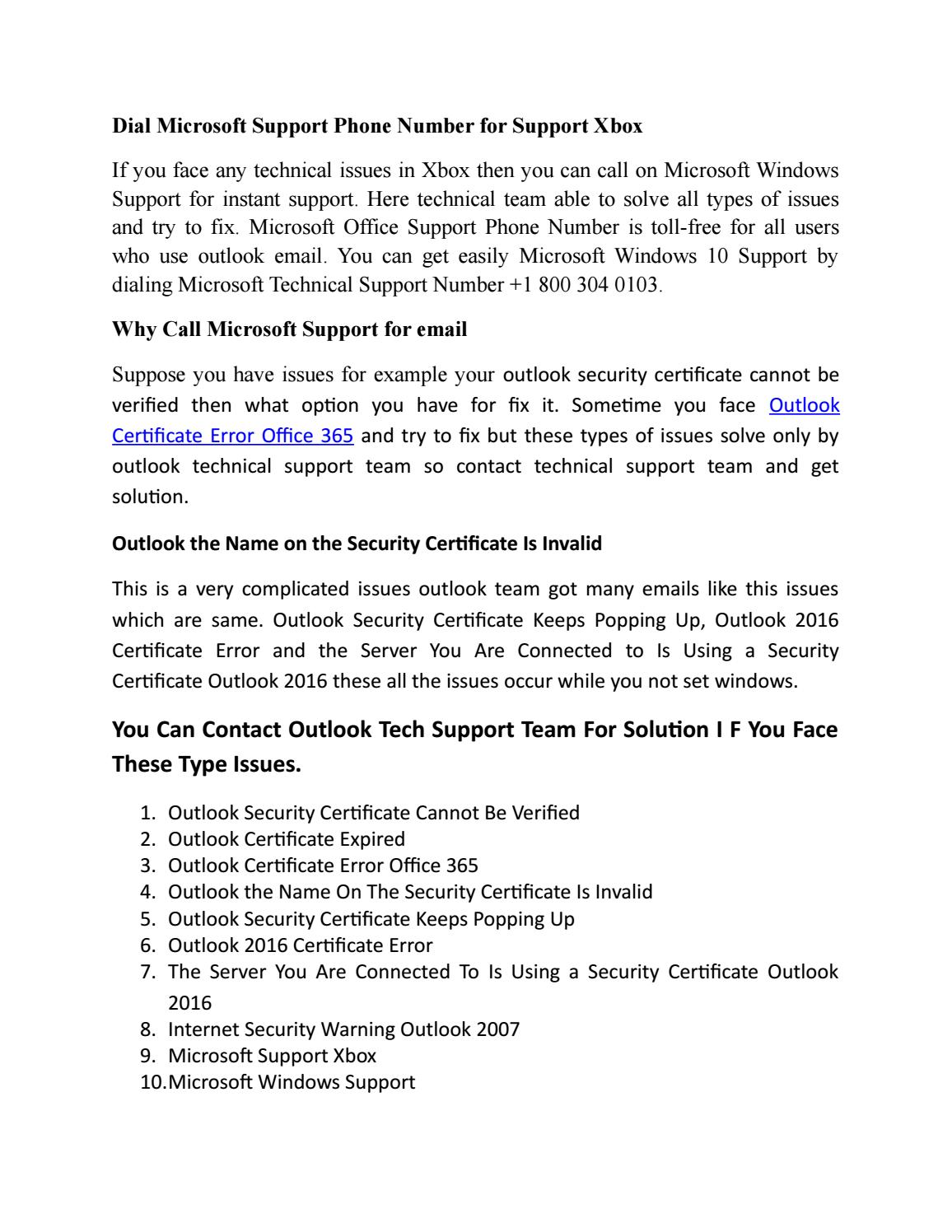Dial microsoft support phone number for support xbox by mike - issuu