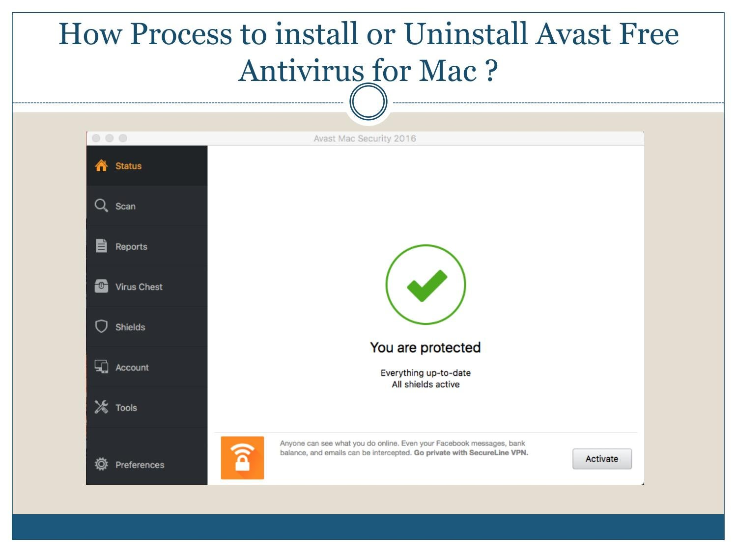 How process to install or uninstall avast free antivirus for mac by