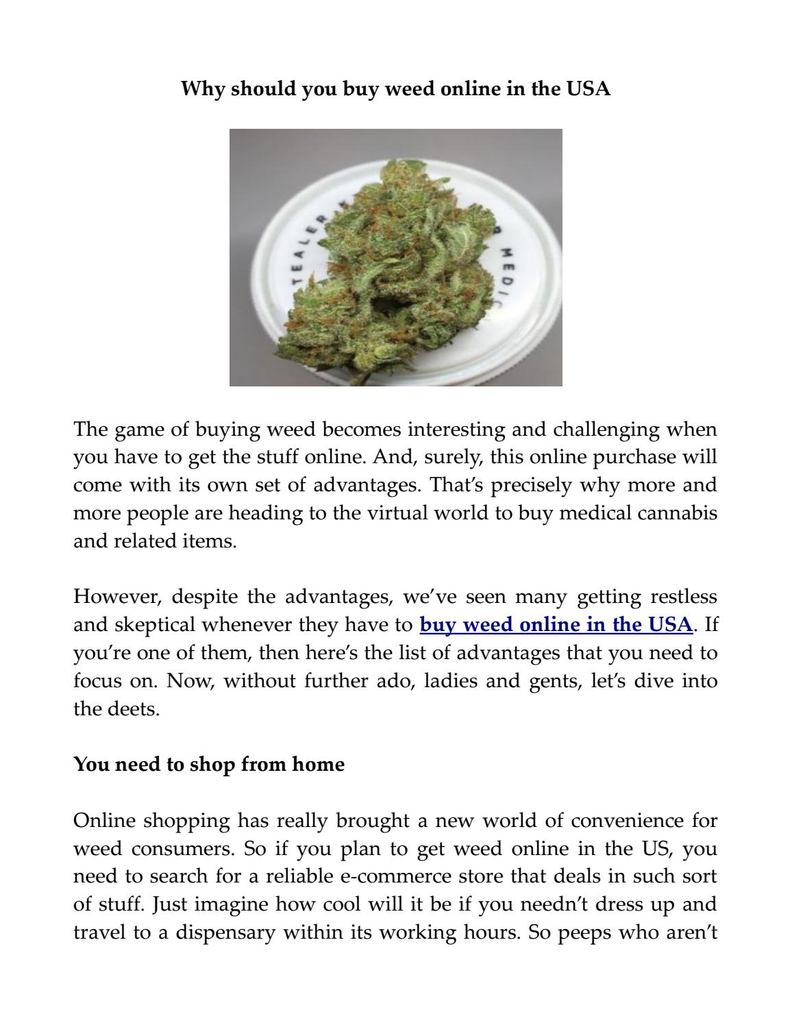 Why should you buy weed online in the USA by