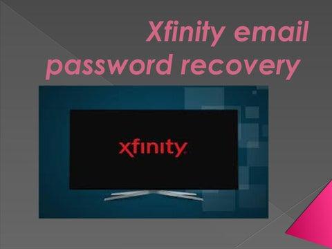 Xfinity email password recovery | xfinity password reset