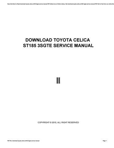 Download toyota celica st185 3sgte service manual by bebeb77mels save this book to read download toyota celica st185 3sgte service manual pdf ebook at our online library get download toyota celica st185 3sgte service fandeluxe Choice Image