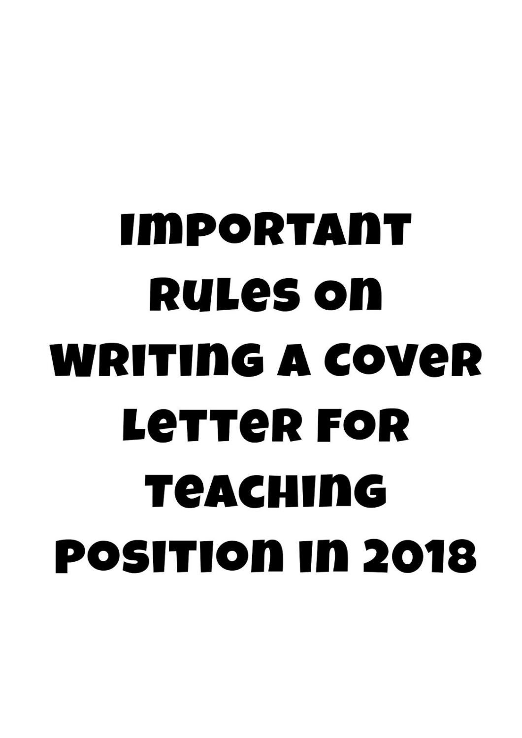 Writing A Cover Letter For A Teaching Position from image.isu.pub