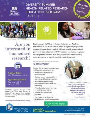 dshrep 2018 program flyer by medical college of wisconsin issuu
