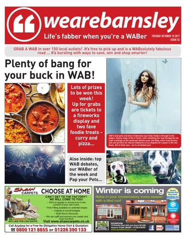 We Are Barnsley October 11th 2016 By Barnsley Chronicle Issuu