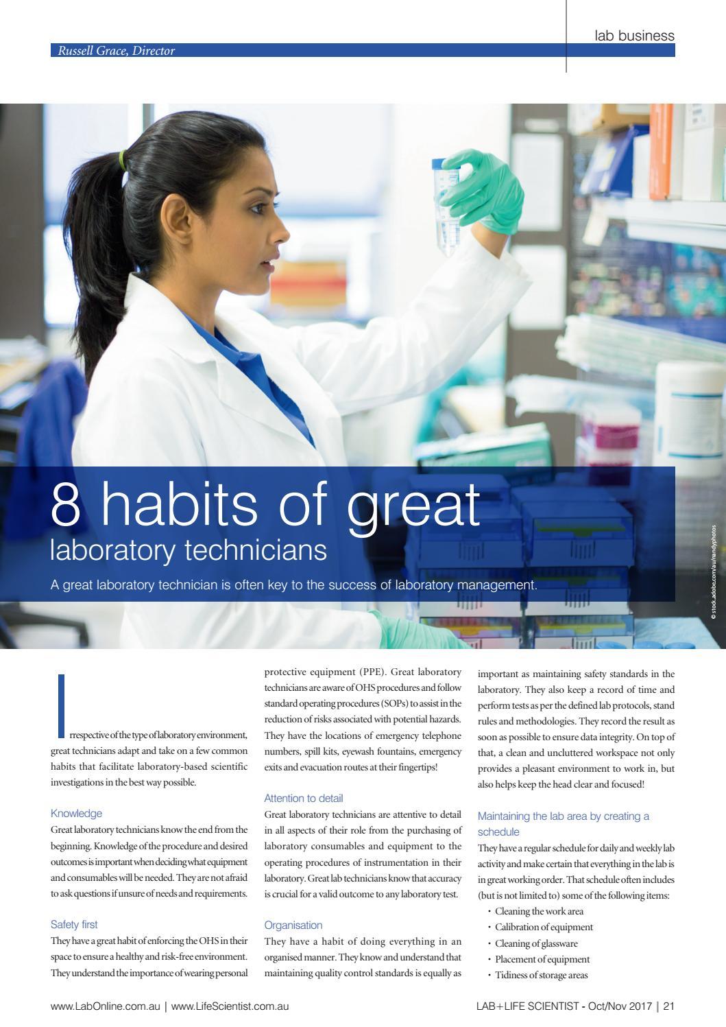lab+life scientist oct/nov 2017 by westwick-farrow media - issuu