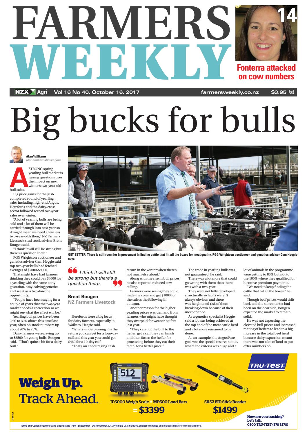 Farmers Weekly Nz October 16 2017 By Farmers Weekly Nz Issuu