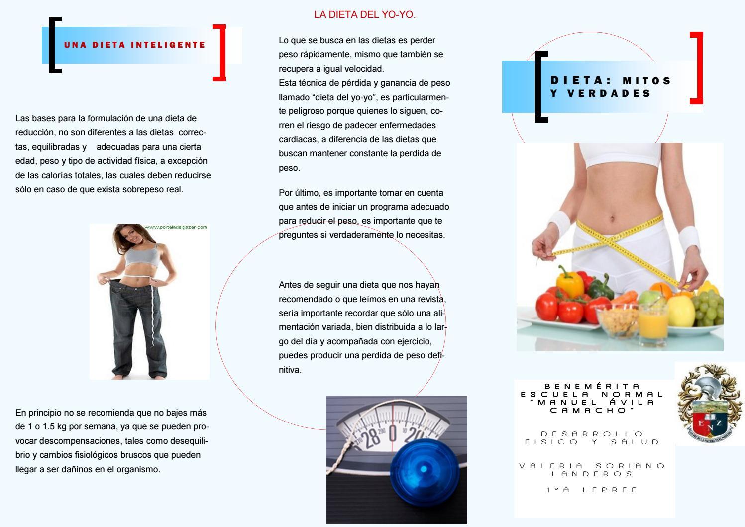 ¿cuál es la dieta adecuada para bajar de peso?