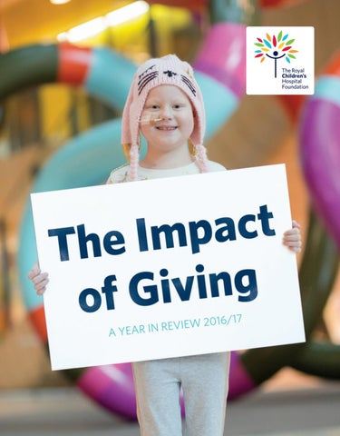 The Impact Of Giving 2017 By Rch Foundation Issuu
