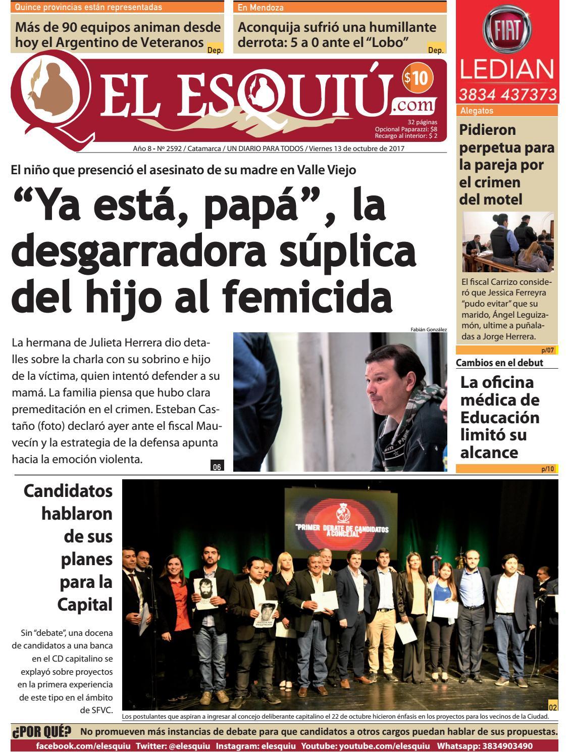 El Esquiu Com Viernes 13 De Octubre De 2017 By Editorial El  # Muebles Doblecinco
