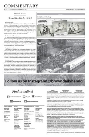 Friday October 13 2017 By The Brown Daily Herald Issuu