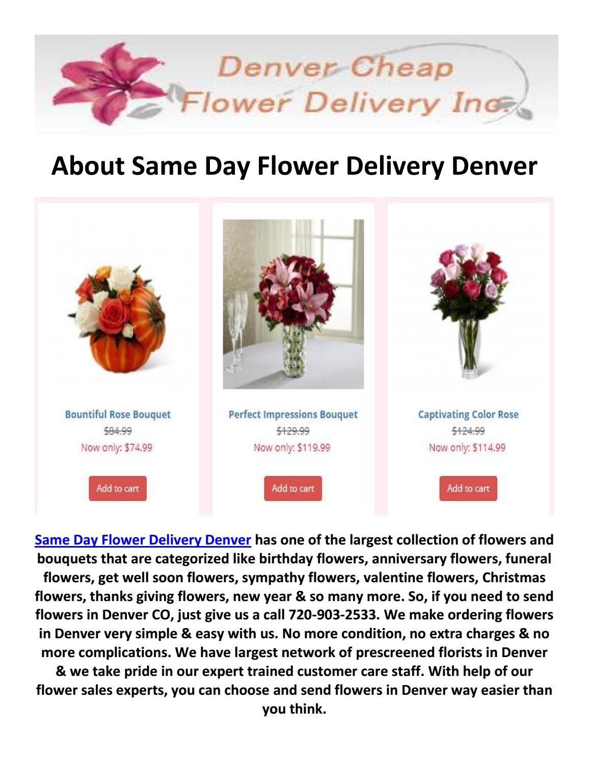 Same Day Flower Delivery Denver 720 903 2533 By Same Day Flower