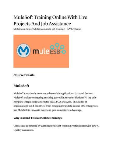 Mulesoft training by Tekslate - issuu