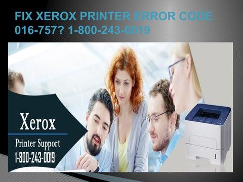 Fix Xerox Printer Error Code 016 757 1 800 243 0019 By