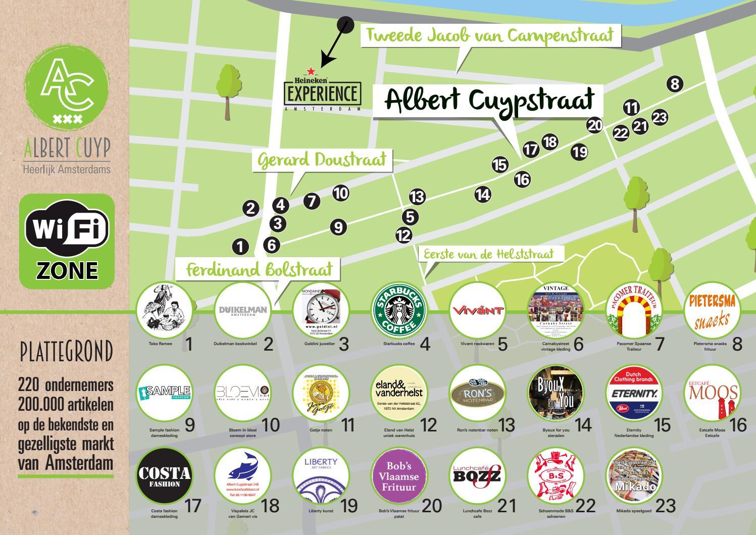 Plattegrond Albert Cuypmarkt by demediagroep - issuu