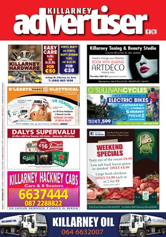 c646e794f21a Killarney Advertiser 13th October 2017 by Killarney Advertiser - issuu