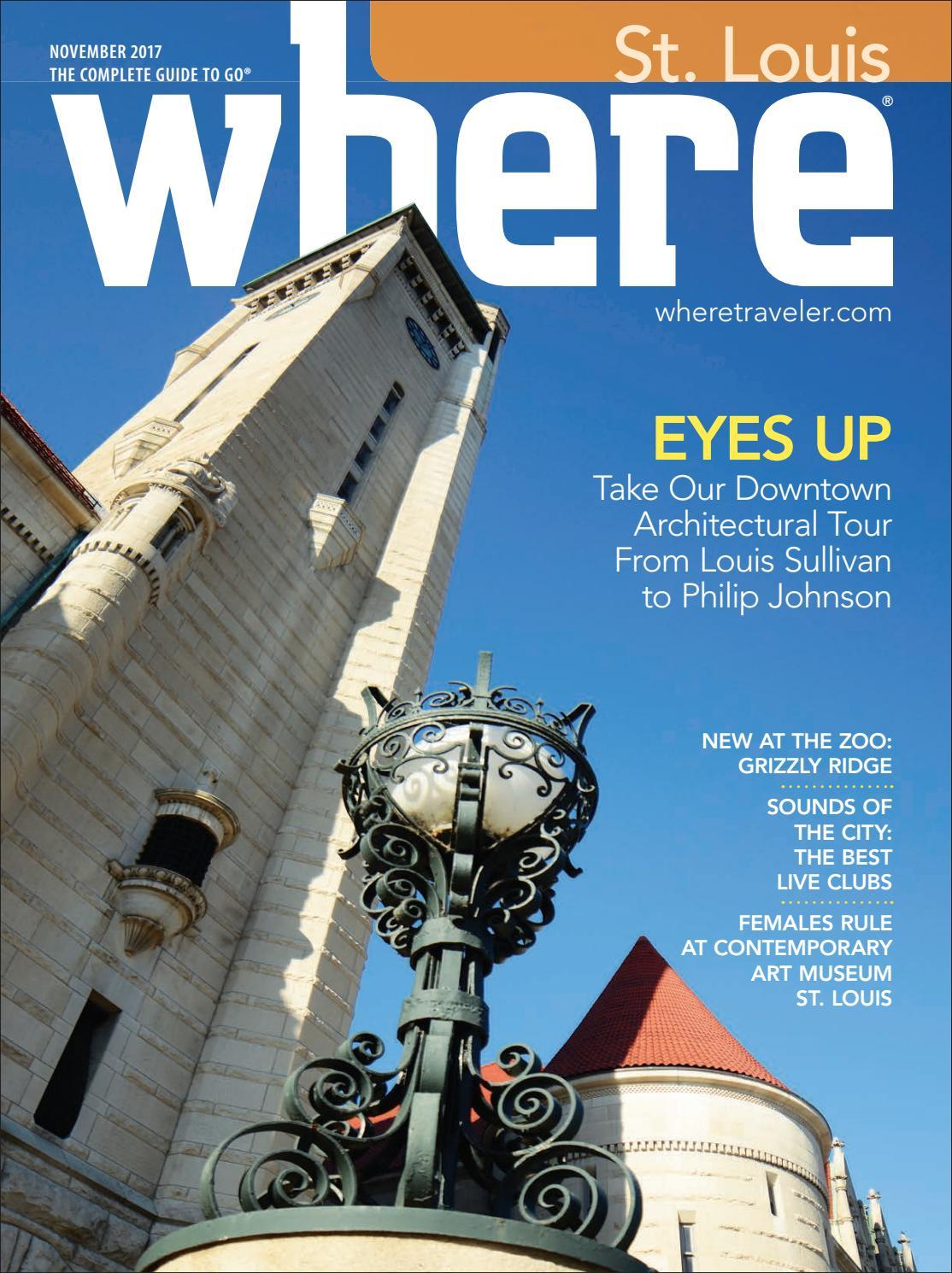 Where Magazine St Louis Nov 2017 by Morris Media Network - issuu