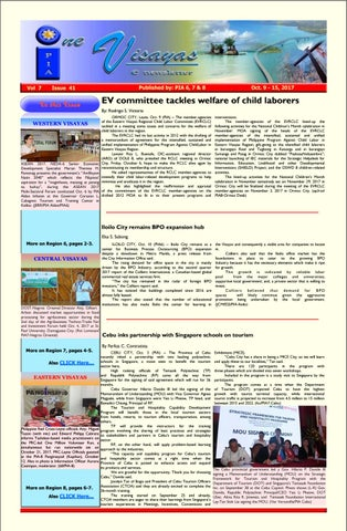 One visayas enewsletter vol 7 issue 41 20171013 r6 by