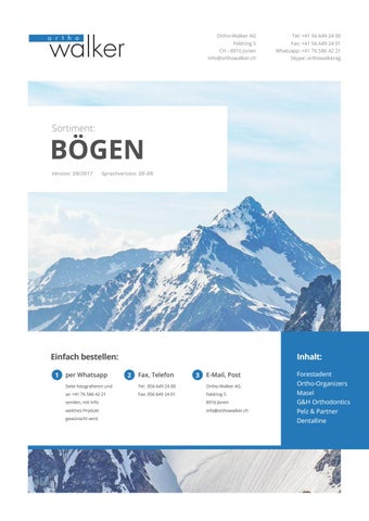 OWA Sortiment: Bögen – orthowalker-kieferorthopaedie.ch