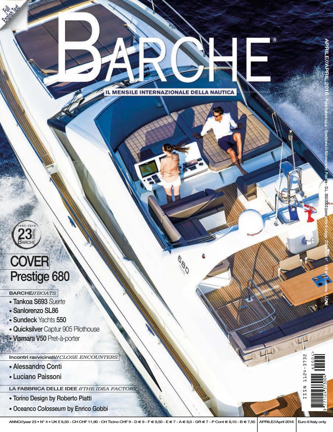 Barche April 2016 By International Sea Press Srl Barche Issuu
